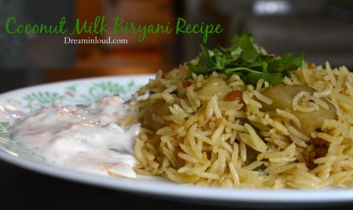 Coconut milk veg biryani recipe