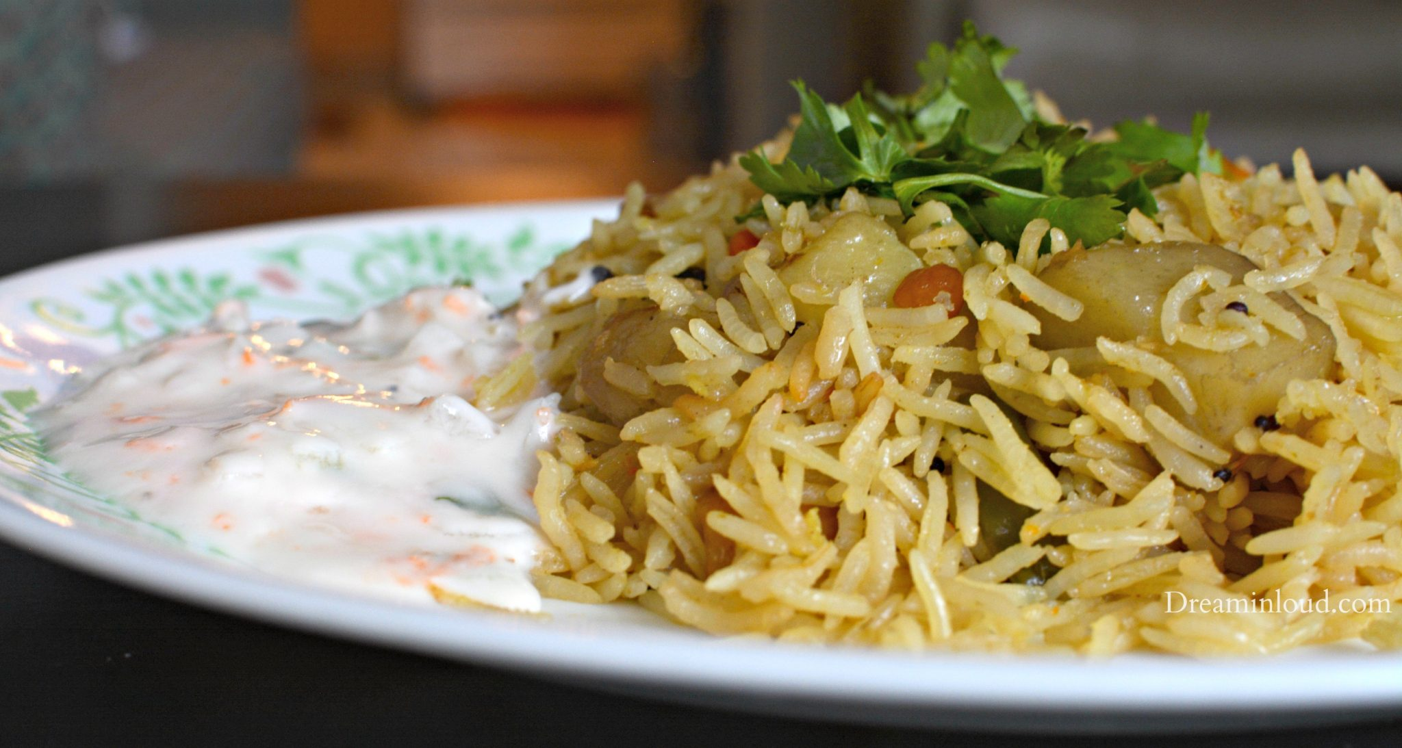 Veg Biryani with raita