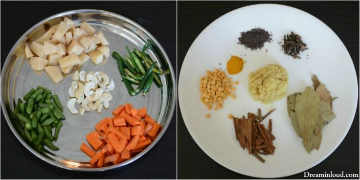 Ingrediants for coconur rice