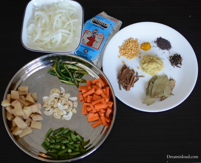 Ingrediants for coconut rice