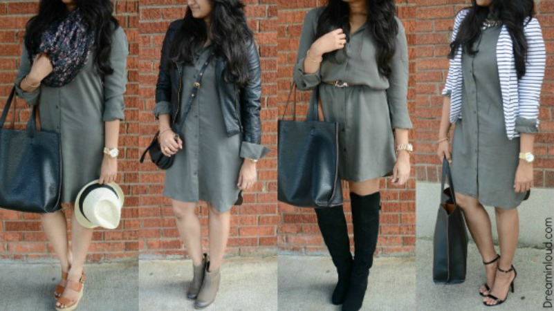 fab-ways-to-style-your-shirt-dress-for-fall | How to Wear a Shirt Dress featured by popular Ohio modest fashion blogger, Dreaming Loud