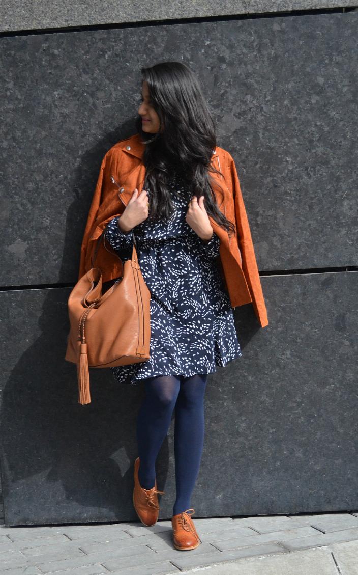 print-dress-suede-jacket-dl