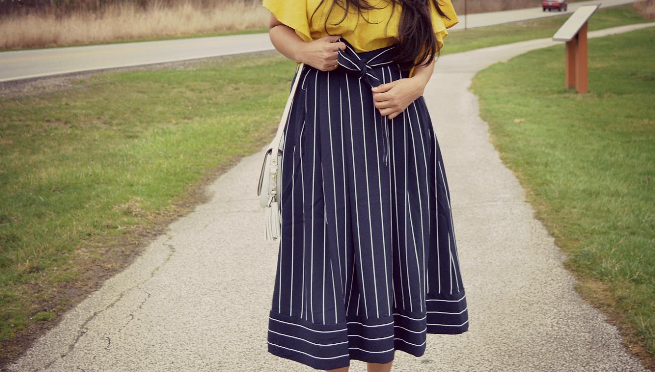 banana-pinstripe-navy-midi-skirt