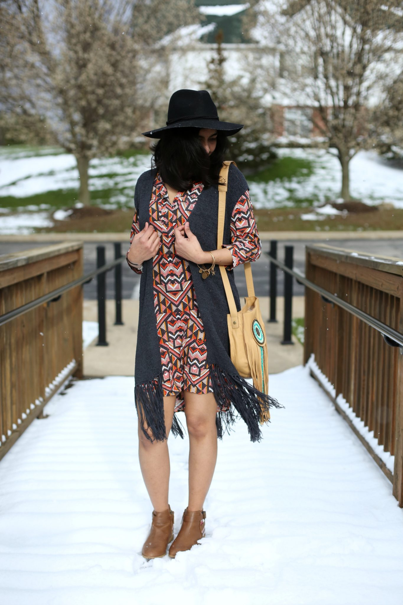 hm-fringe-vest-shirt-dress