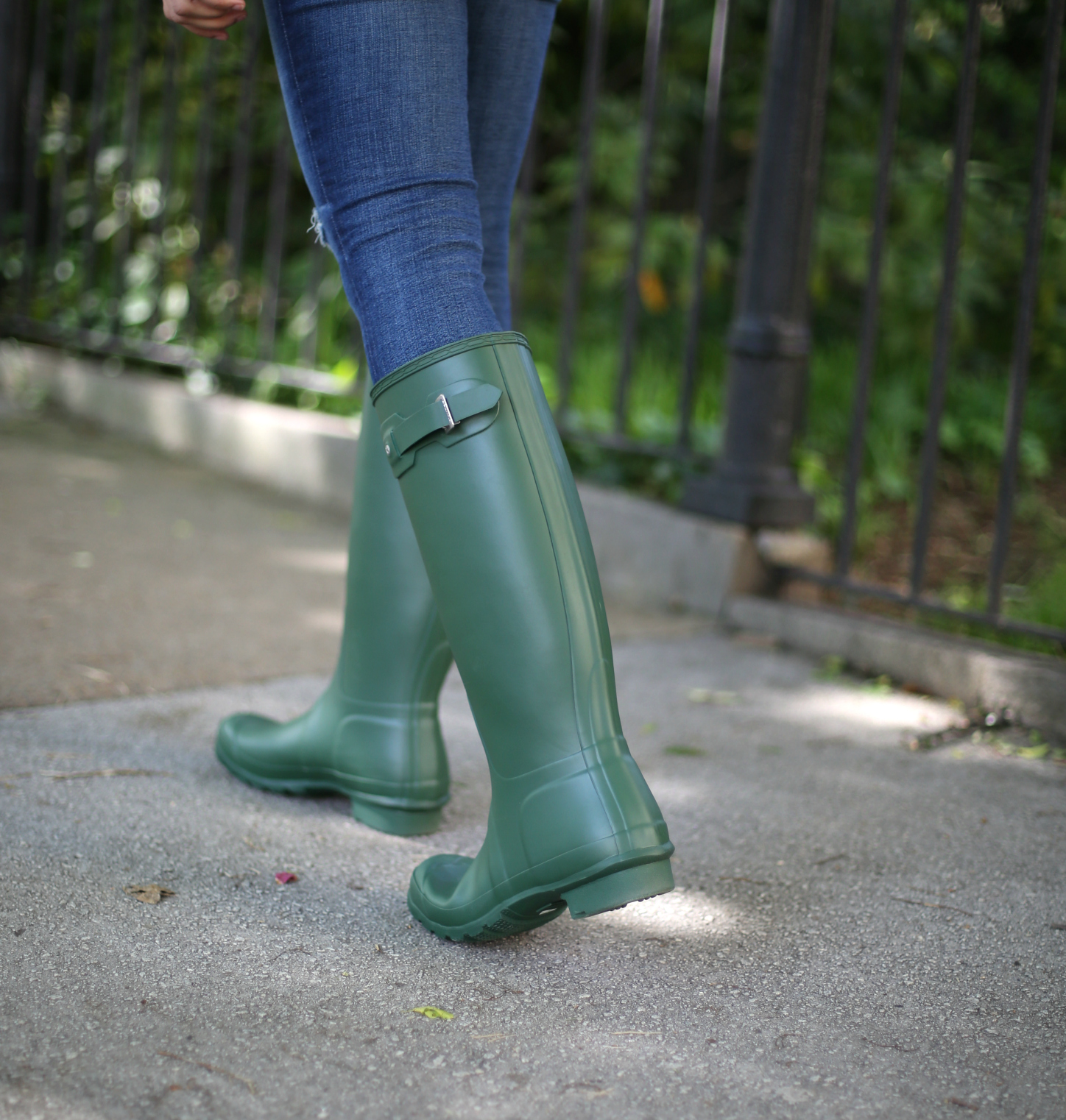 hunter-boots-green