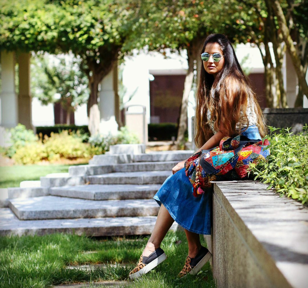 how-to-style-a-denim-skirt-