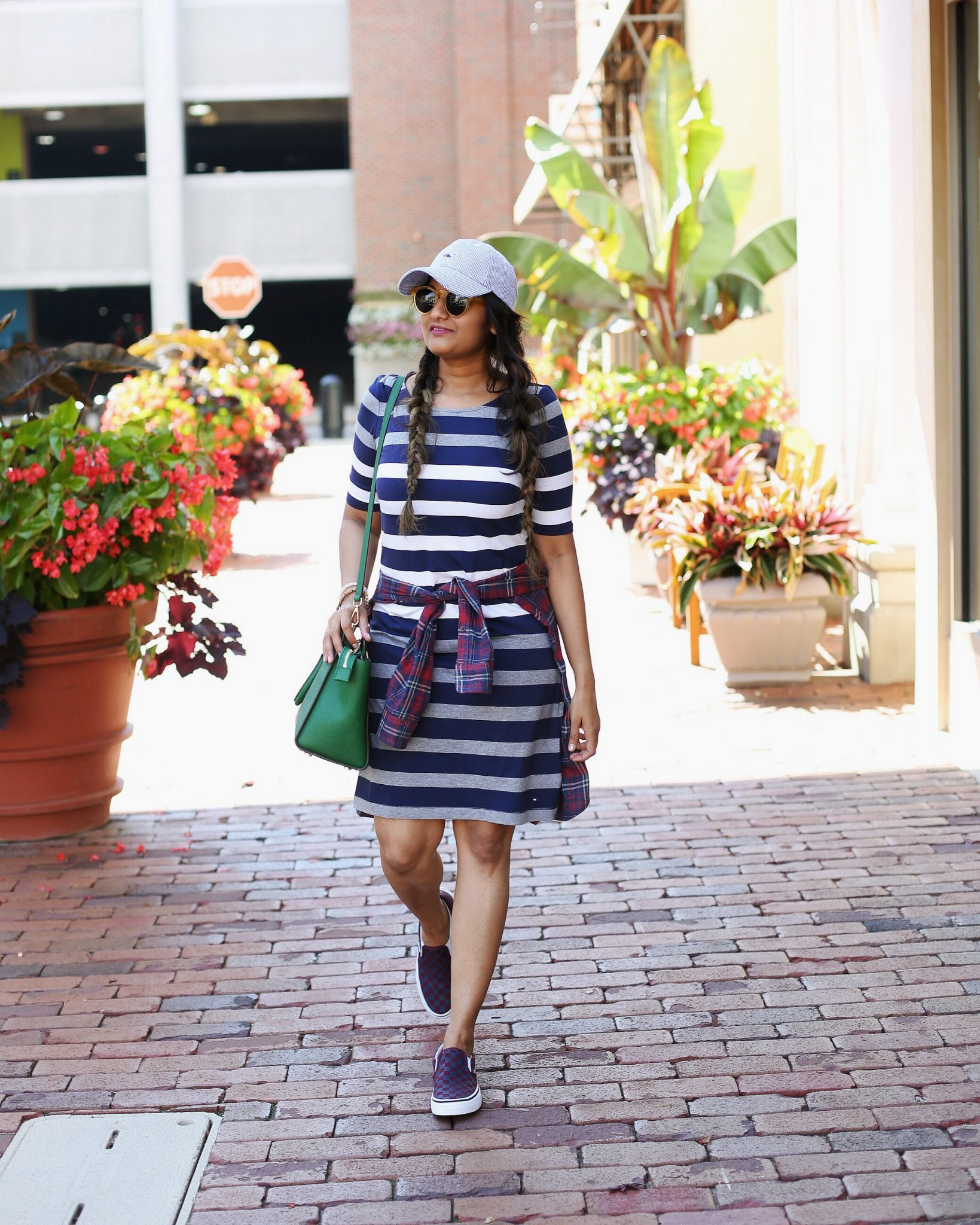 stripe-and-plaid-outfit