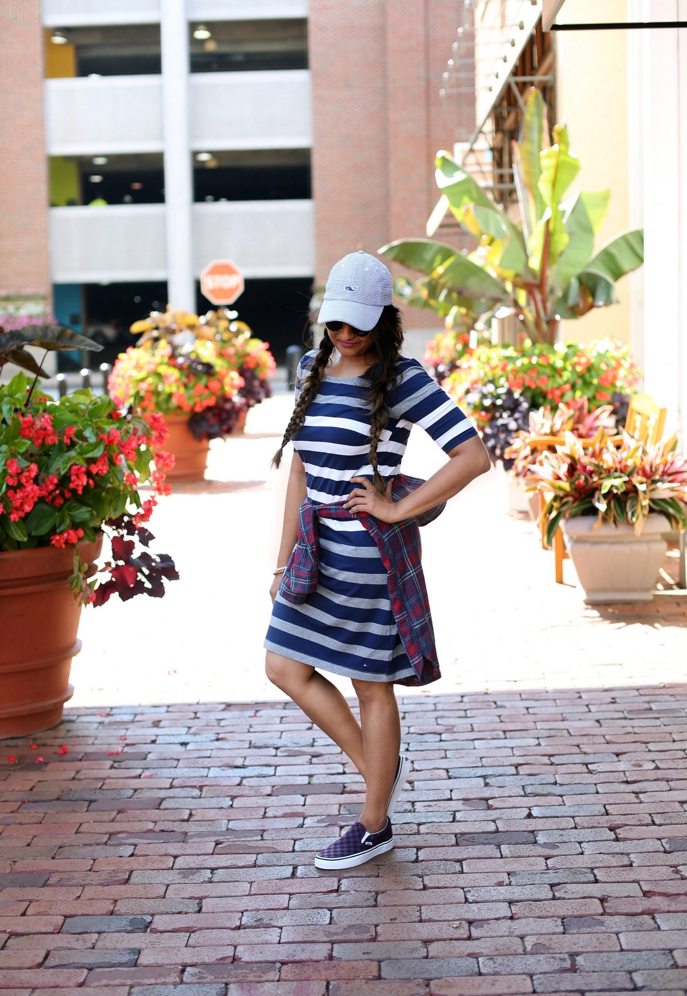 how-to-wear-stripe-plaid-gingham-together