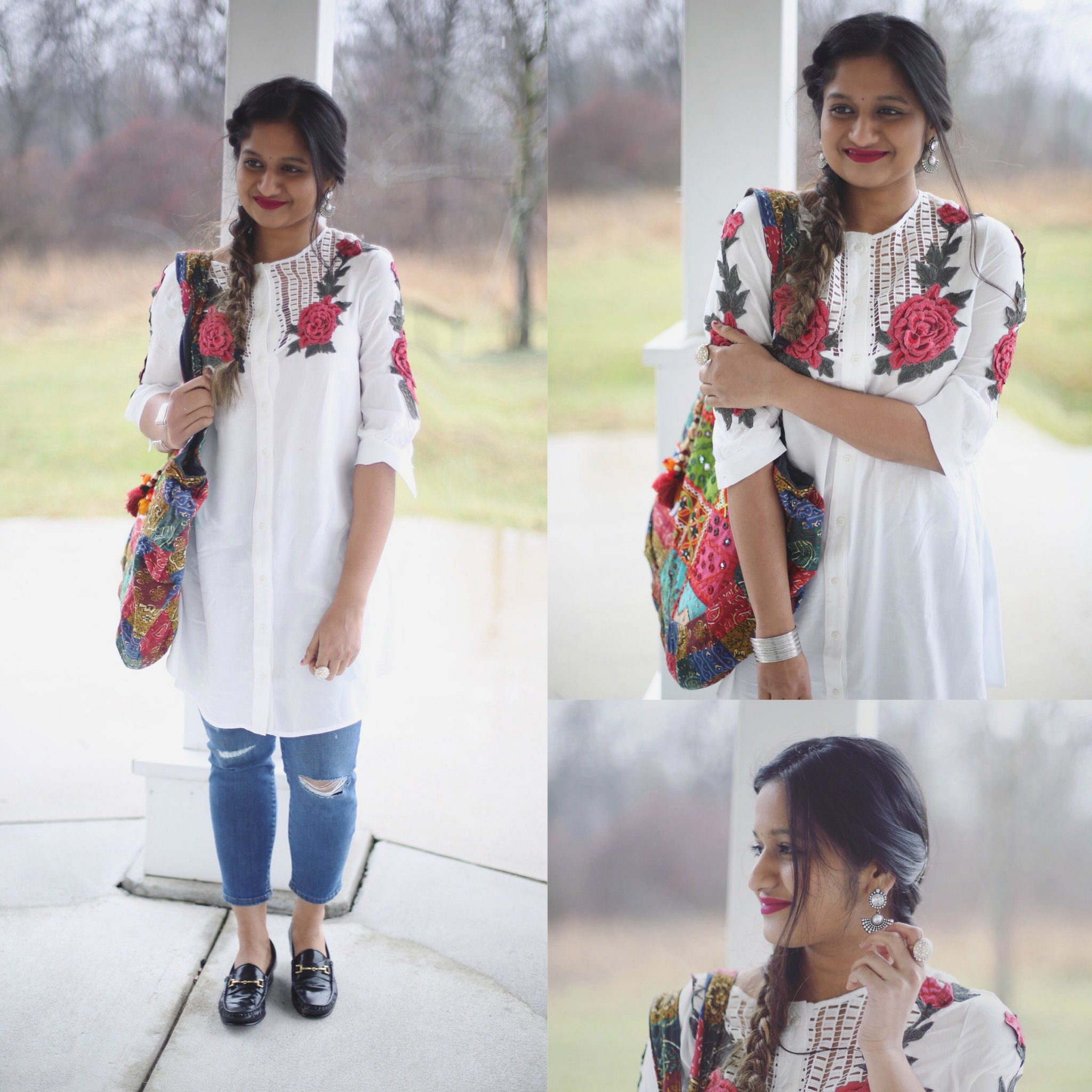 Forever21-floral-tunic-indian-fusion-outfit